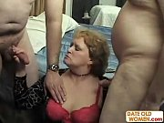 slutty old woman in threesome