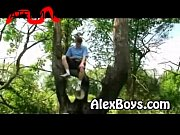 gay teen boy ethan outdoor fun.