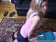 mistress in jeans explodes stinky air straight to.