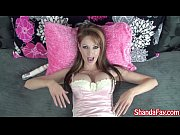 canadian milf shanda fay gets kinky in her bed!