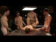submissive guy is bent over and.