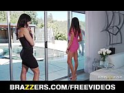 Two big-tit brunette MILF&#039_s seduce and fuck their poolboy