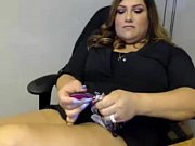bbw latina playing at work -.