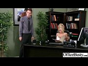 office girl (kayla kayden) with big melon tits.
