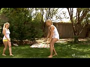 Nesty and Brandy playing in the yard-myhotporncams.com