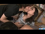 Dirty threesome porn along busty Satomi S ...
