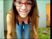 Nerdy Teen gets Nude on Webcam