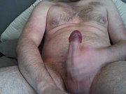 jerking thick cock to huge cumload