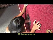 Black babe suck in a gloryhole 4