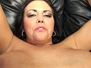 Big dick dude butt-fucked by a BBW with a strap-on