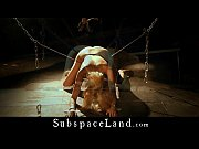 Collared and leashed blonde slaves takes Master&rsquo_s cum