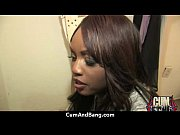 Amazing ebony in gangbang interracial fucking 23