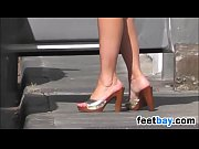 sexy high heels in public candid.