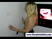 Blonde ho gloryhole sucks
