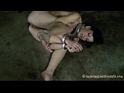 tied up mounds with toy pleasuring