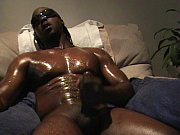 Jerking black cock