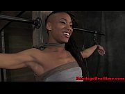 ebony bdsm sub nikki darling tied.