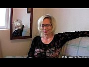 slutty grandma in stockings fists her.