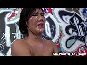 London Keyes Gangbanged and Bukkake by Big Black Dicks
