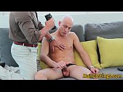 Bald guy Mathew gives hot blowjob gays
