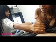 Britney Long watches Heather Deep Deep Thoat and Throatpie and give a hand