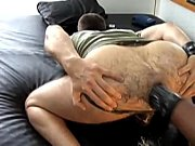 Horny dude gets hairy ass fisted