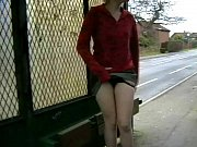 Crazy UK Babe Shay Hendrix Playing With Her Pussy At A Bus Stop