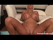 Euro Blonde Puma Swede Gets Big Dick Poolside!