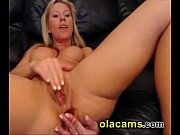 sexy blonde busty rubs clit &amp_ toying ass web