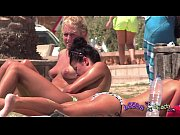 Boobfest on the Topless Beach Big Brit Pierced Tits and Ass Stretching Exercises