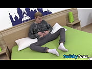 cute blonde twink erik franke thoroughly enjoys foot play