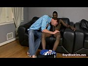 twink getting shared by hung black.