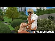 sexy 3d cartoon honey getting fucked in the park