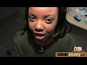 Ebony Cum Slut Hottie Bukkake Party 20