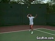 blowjob at the tennis court