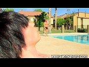 Gay movie of Horny young lad Tyler Bolt is out beside the pool when