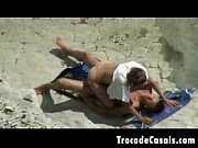 couple make sex on a nudism beach -.