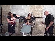 feet tortures of slave elise graves in dungeon.