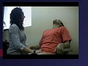 Latina secretary MILF makes handjob to her boss at lunchtime