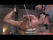 Suspended bdsm sub anal a...
