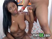 busty ebony gets facialized - camg8