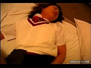 asian schoolgirl getting fucked in her hairy bush.