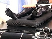 Two chick in rubber have fun with sex
