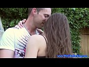 Outdoor blowjob action with amateur teen