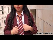 schoolgirl flashes boobs anal fucked hard for a.