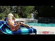 Poolside blonde with great milf tits 1