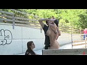 Beautifull busty naked slut disgraced in public then fucked