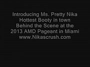 Pretty Nika twerking &amp_ Shaking that fine BOOTY- Behind the scene at Miami AMD Pa