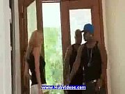Blonde wife fucked by two black guys