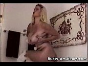 busty heather masturbates in the bathtub
